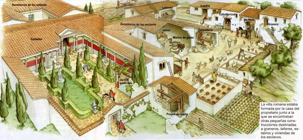 Clari n pizarra digital for Villas romanas