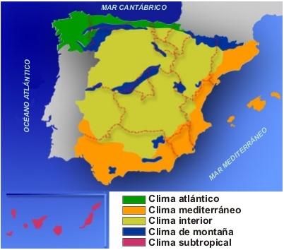 Clari n pizarra digital for Clima mediterraneo de interior